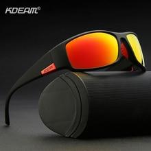 Kdeam óculos de sol esportivo 2019, óculos de sol masculino polarizado e uv400, armação inquebrável e anti reflexo óculos novos