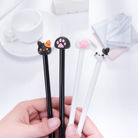 28 Pcs Lot Cute Cat Gel Pen Wholesale Cartoon Claw Gel Pens 0 5mm Black Lovely