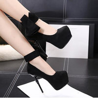 Extreme High Heels Shoes Sexy Heels Women Dress Shoes Heels Bow Women Platform Shoes Green Pumps