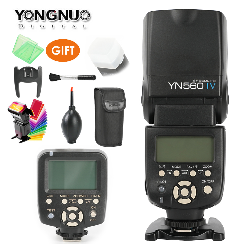 YONGNUO YN560 IV,YN-560 IV Master Radio Flash Speedlite + YN-560TX Controller for Nikon Canon 1000D 6D D3000 D800 D600 D6 Camera yongnuo yn560 iv yn 560 iv master radio flash speedlite rf 603 ii wireless trigger receiver for canon nikon dslr camera
