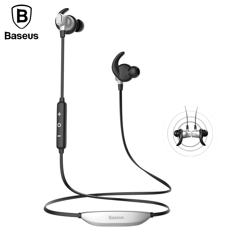Baseus S03 Auriculares Bluetooth Earphone Headphone With Mic Magnet Wireless Headset Sport Running Hifi Stereo Earbuds For Phone high quality colorful cheap price hifi fever sport earphone headset smartphone tablet headphone with mic for adult and kid lady