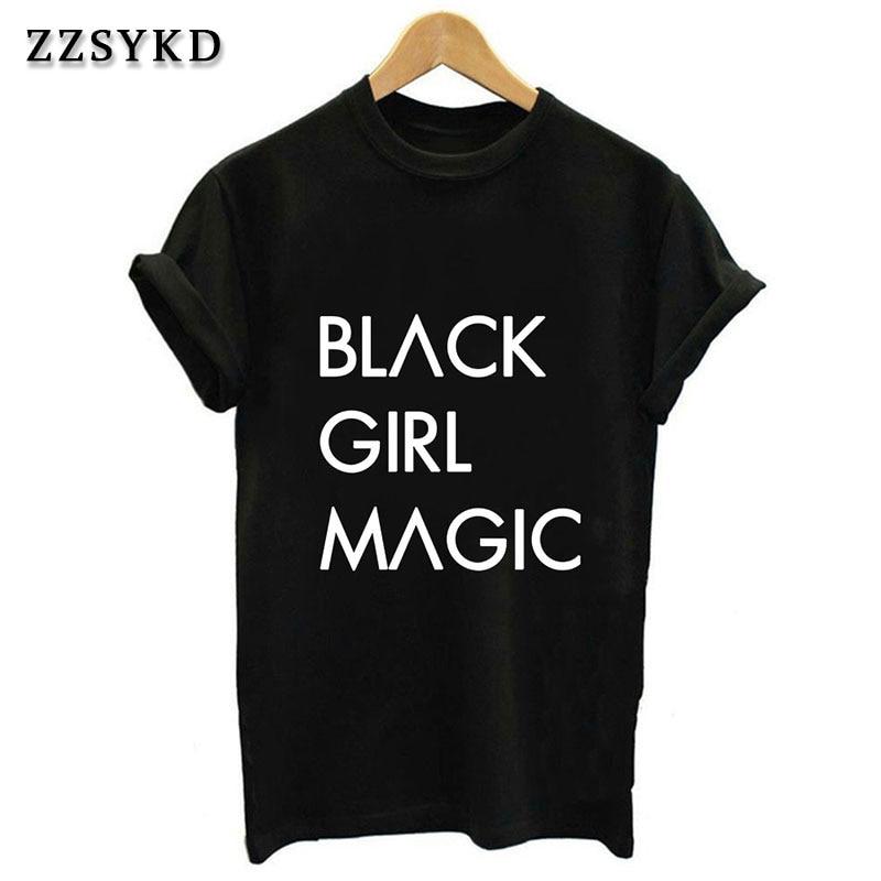 9968838d042d ZZSYKD Harajuku negro chica letras mágicas camiseta mujer Vogue Casual  Ulzzang Tumblr divertida manga corta Camisetas Mujer Top