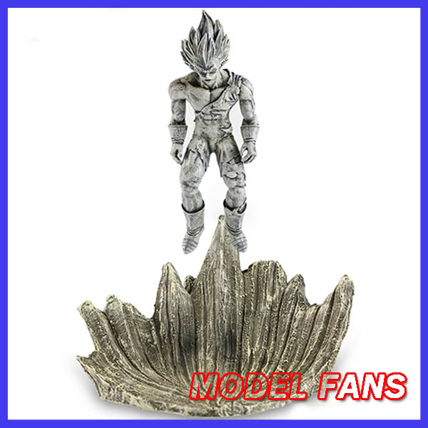 MODEL FANS Dragon Ball Z 23cm Petrifaction Vegeta gk resin figure toy for Collection Handicrafts model fans in stock dragon ball z 35cm super saiyangoku and time house gk resin statue figure for collection
