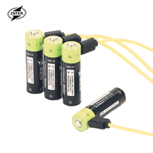 ZNTER NEW battery ! 4pcs 1.5V AA 1250MAH li-polymer lithium li-ion rechargeable with USB charging line