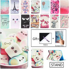 цена For Samsung Galaxy TabA A6 10.1 Case 2016 SM T580 T585 T580N Flip Stand PU Leather Tablet Cover For Samsung Tab A 10.1 Sm-T580