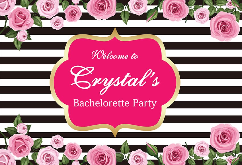 Customized Background Photo Studio Foldable Photography Backdrop Welcome to bachelorette patty