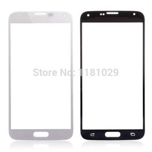 Front Touch Screen Glass Outer Lens For Samsung Galaxy S5 i9600 Glass Color Black White Blue 10PCS/Lot With Logo Free Shipping