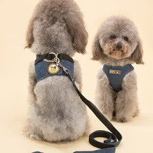 Vest type dog cowboy leash pet leash dog dog rope dog chain Teddy chest back autumn and winter supplies