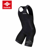 Santic Pro Triathlon Cycling Jersey 2015 4D Pad Quick Dry Sleeveless Cycling Skinsuits Bike Jersey For