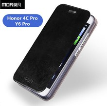 Original Mofi For Huawei honor 4c pro Luxury PU Flip Leather Cover Case For huawei y6 pro With Card Slot And Stand Function