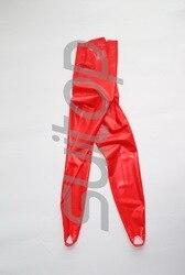 Женские латексные красные леггинсы