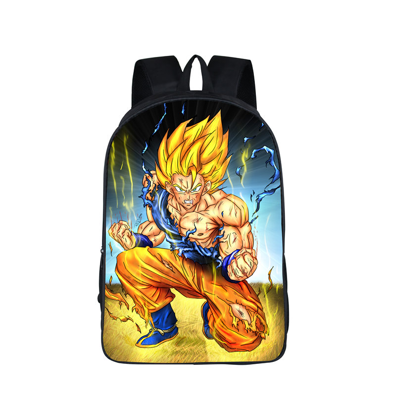 For Teenagers Backpack Anime Dragon Ball  Boys Girls School Bags Super Saiyan Sun Goku Backpack  Kids Daily Bags Gift Backpacks 16 inch anime game of thrones backpack for teenagers boys girls school bags women men travel bag children school backpacks gift