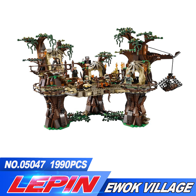 LEPIN 05047 series the Ewok Village Model Building Bricks set Classic compatible legoed 10236 treetop home Toys for children new lepin 16009 1151pcs queen anne s revenge pirates of the caribbean building blocks set compatible legoed with 4195 children