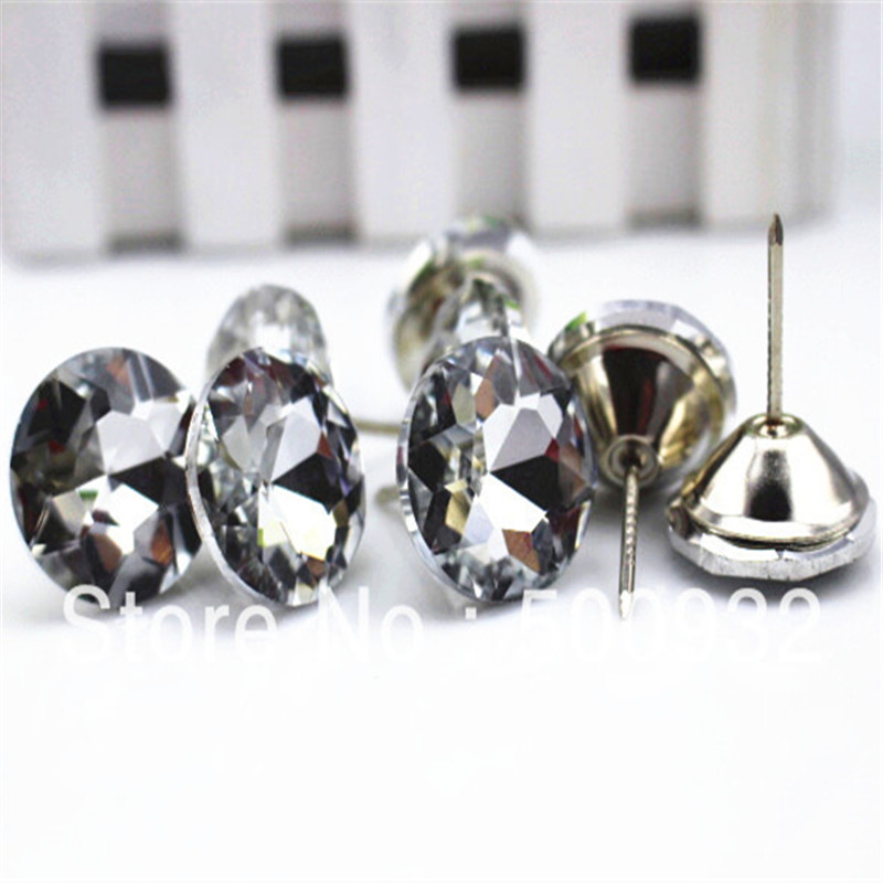 Glass Buttons Diy Sofa Buttons To Win A High Admiration 25mm 25pcs/lot Sofa Clear Crystal Buttons Furniture Buttons