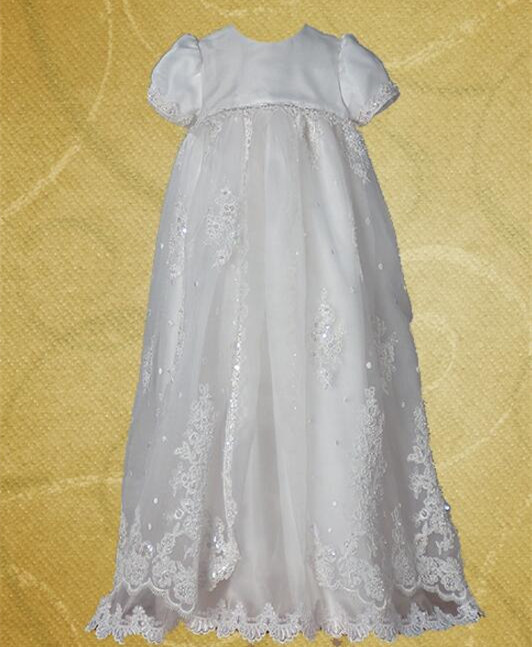 2016 Infant Baptism Gown Floor Length Robe Baby Girl Christening Dress Lace Applique White/Ivory 0 4 6 9 12 18 24 Month lolita baby infant christening dress baptism gown ivory white lace applique baby girl party dress 0 3 6 9 12 15 18 24month