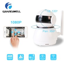 hot deal buy graneywell videcam wi-fi ip camera 1080p smart night vision 4 places in 1 screen home security video surveillance mini camera