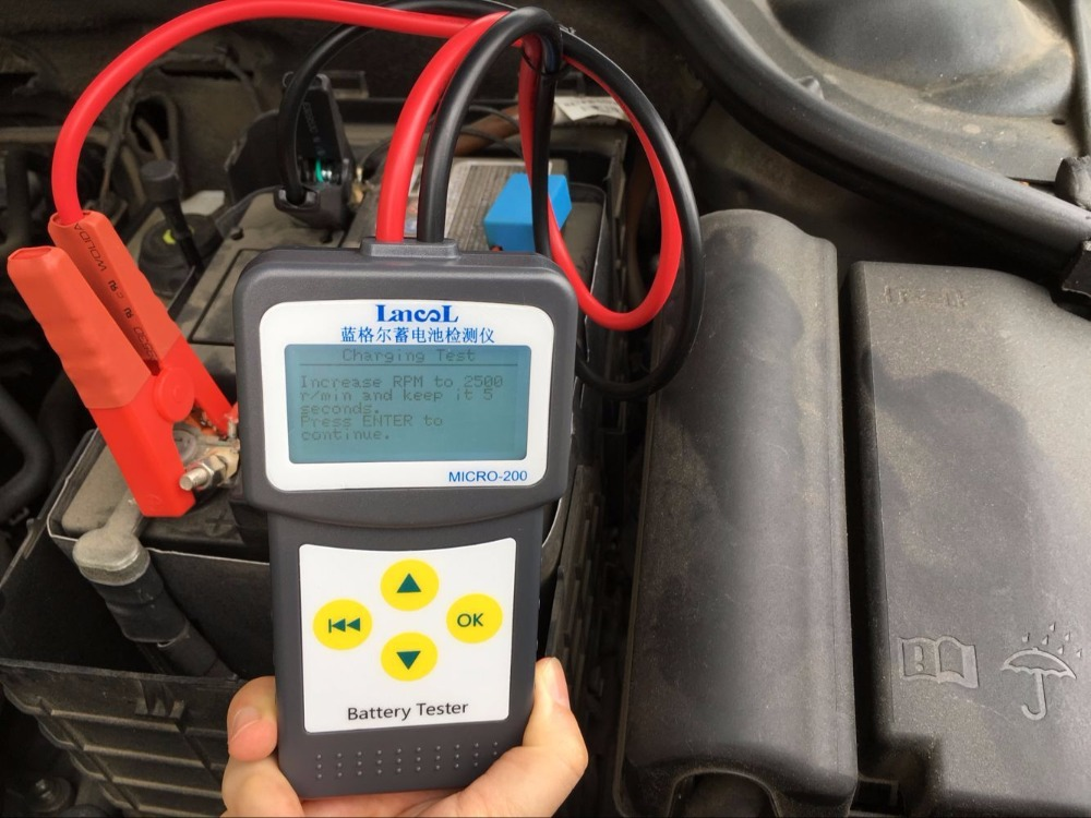 Image 5 - Lancol Factory 200 With Car Automotive Battery Tools For Cars Battery Analyzer Tester Battery Car Battery Life Multi Languages-in Battery Measurement Units from Automobiles & Motorcycles