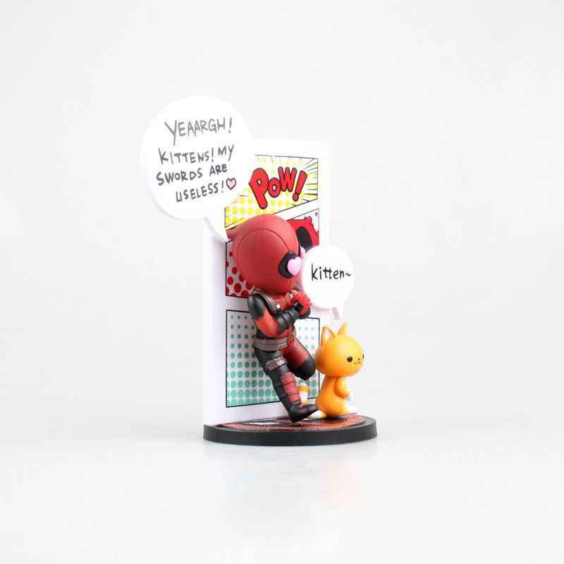 Deadpool Engraçado Equitação Ninja Housemaid Selfie Unicórnio Presentes PVC Action Figure Toy Model Collection para Crianças