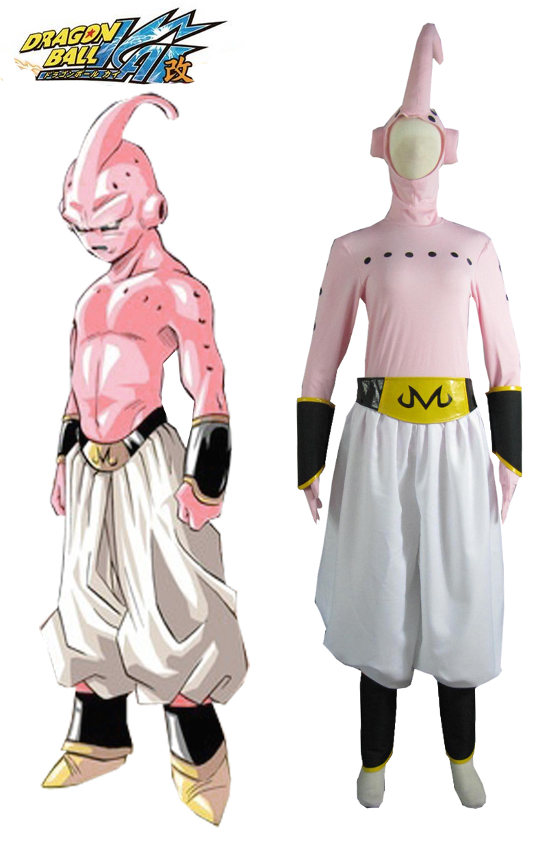 Free Shipping Dragon BallZ Majin Boo the evil Boo Anime Cosplay Costume ...