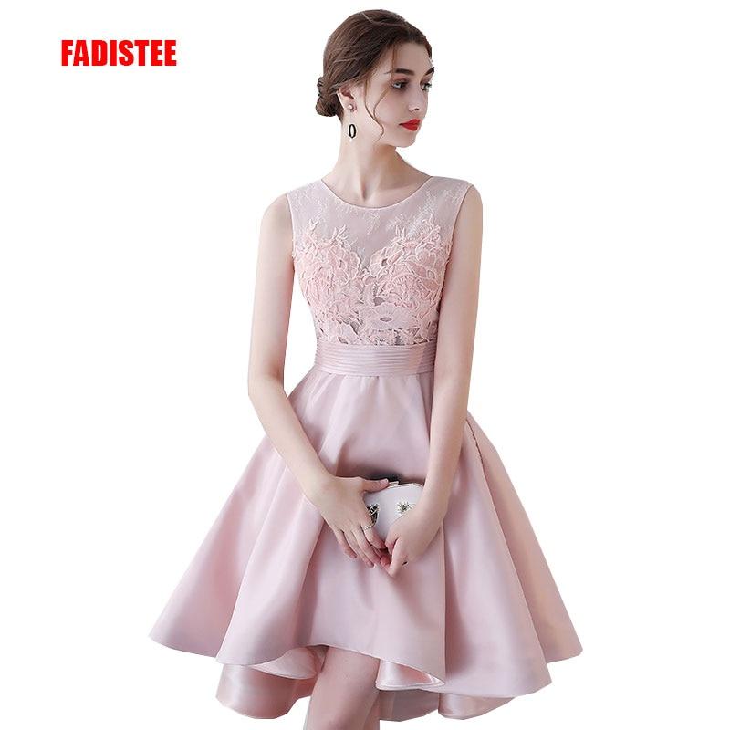 FADISTEE New arrival elegant party prom dress Vestido de Festa lace evening dresses appliques high-low style dress