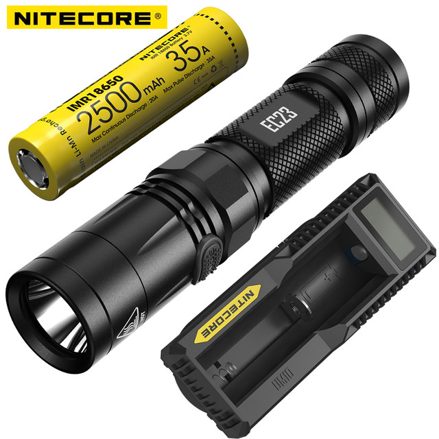 NITECORE 1800 Lumens LED Flashlight EC23 18650 Rechargeable Battery Waterproof Outdoor Camping Portable Torch FREE SHIPPING 4pcs lot 3000mah original rechargeable battery recarregavel for toys led flashlight torch camera free shipping