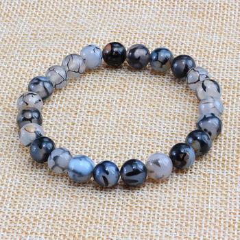 Natural Stone Black Dragon Bracelets1