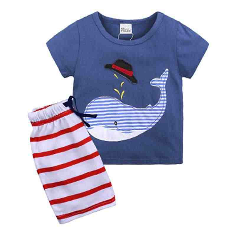 c516712f3389 ... 1 2 3 4 5 6 Years Boys Suits 2018 New Cartoon Summer Boys Clothes T ...