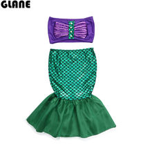 2018 new mermaid girl sswimwear baby kids swimwear biquini infantil swimsuits bikini kids swimwear for girls(China)