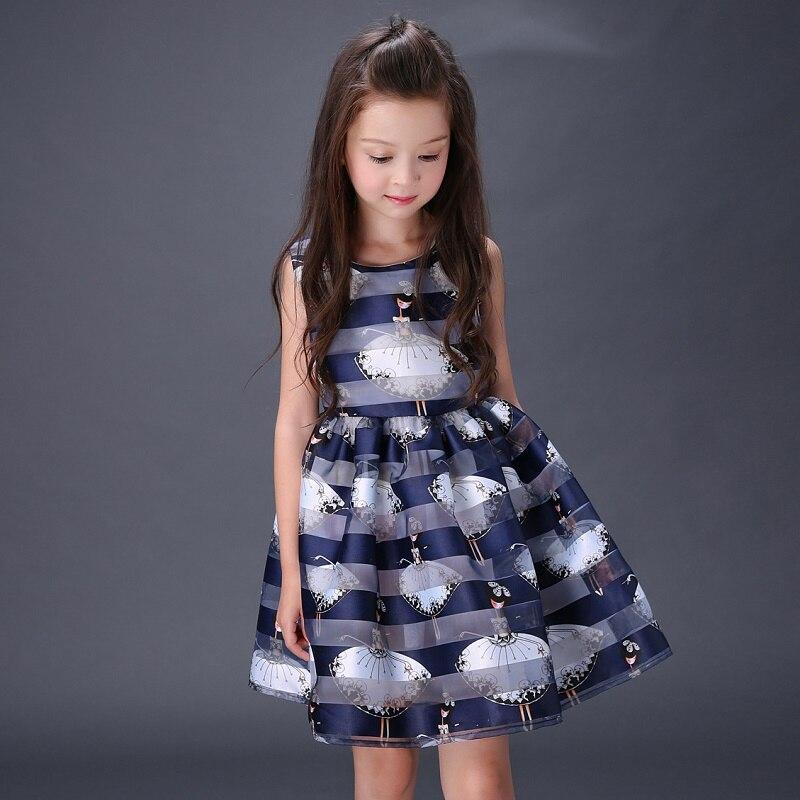 2017 verano ropa para niños niñas vestido de princesa vestido de la manera virgi