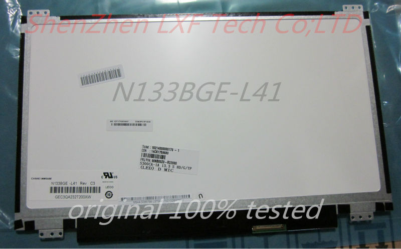 FREE SHIPPING For ASUS S300CA S300C Slim Panel UP+DOWN screw holes N133BGE-L41 Rev.C3 New 13.3 Laptop LED LCD Screen