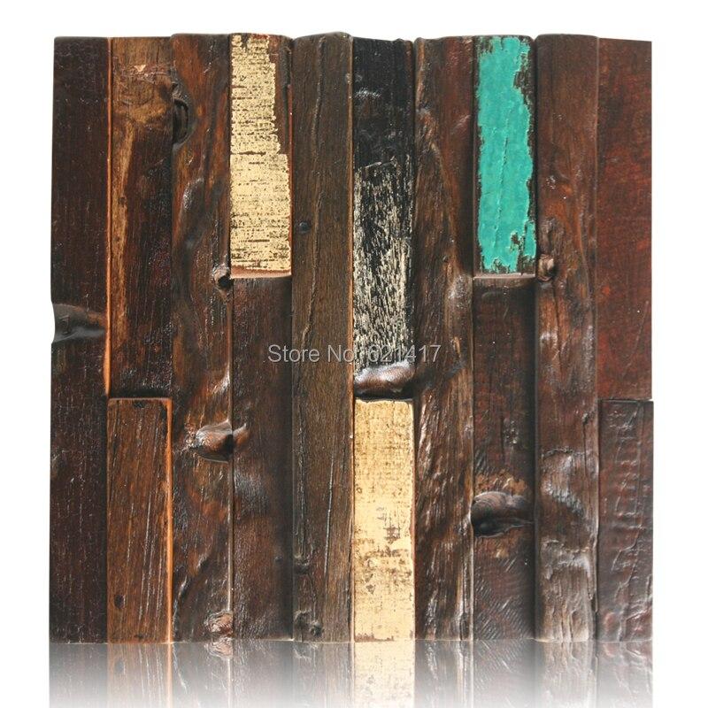 přírodní loď dřevo 3d starověký starý člun dřevěné mozaikové dlaždice nástěnné dekorace materiály HMWM1009 pro backsplash kuchyňskou zeď