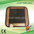 POP RELAX Tourmaline germanium stone heating seat mat pad PR-C06A 45x45cm new