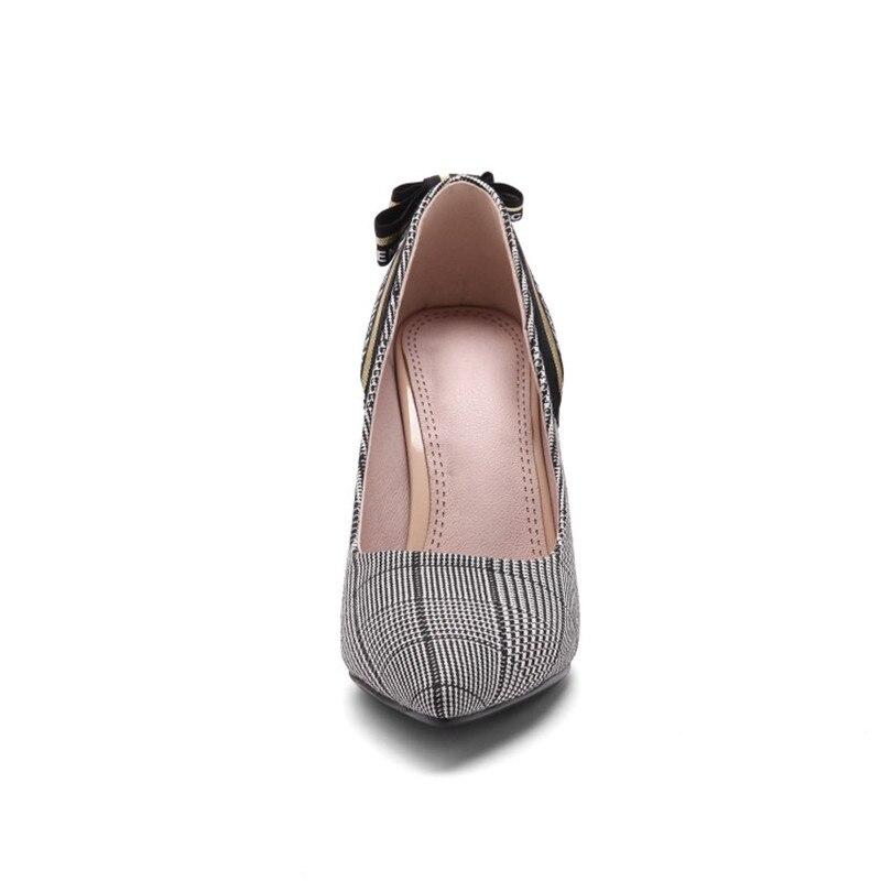 Party Lady De Bout Kriywen Mariée marron Chaussures Office 33 Femmes 43 Pointu Noir Élégant Taille La Pompes Mariage Sexy Stiletto Plus Extreme Talons xWCeBrdo