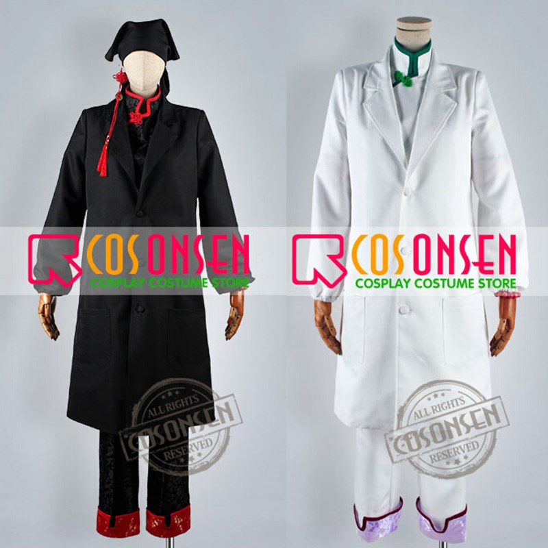 COSPLAYONSEN Hoozuki no Reitetsu Hozuki s Coolheadedness Hakutaku Cosplay Costume White Black Color Full Set All