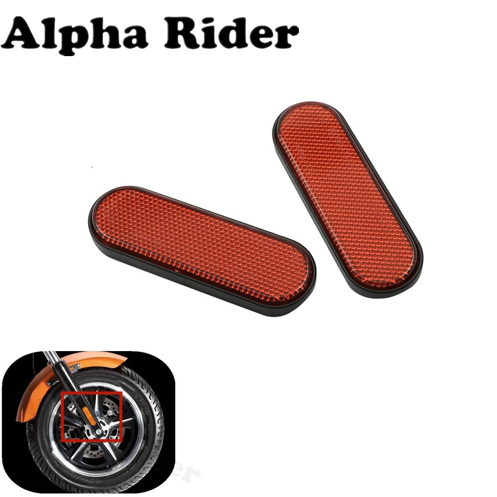 1 Pair Front Fork Leg Reflector Cover High Quality Plastics for Victory Judge Hammer-S Hard-Ball Vision-Tour High-Ball Jackpot 1 pair front fork leg reflector cover high quality plastics for victory judge hammer s hard ball vision tour high ball jackpot