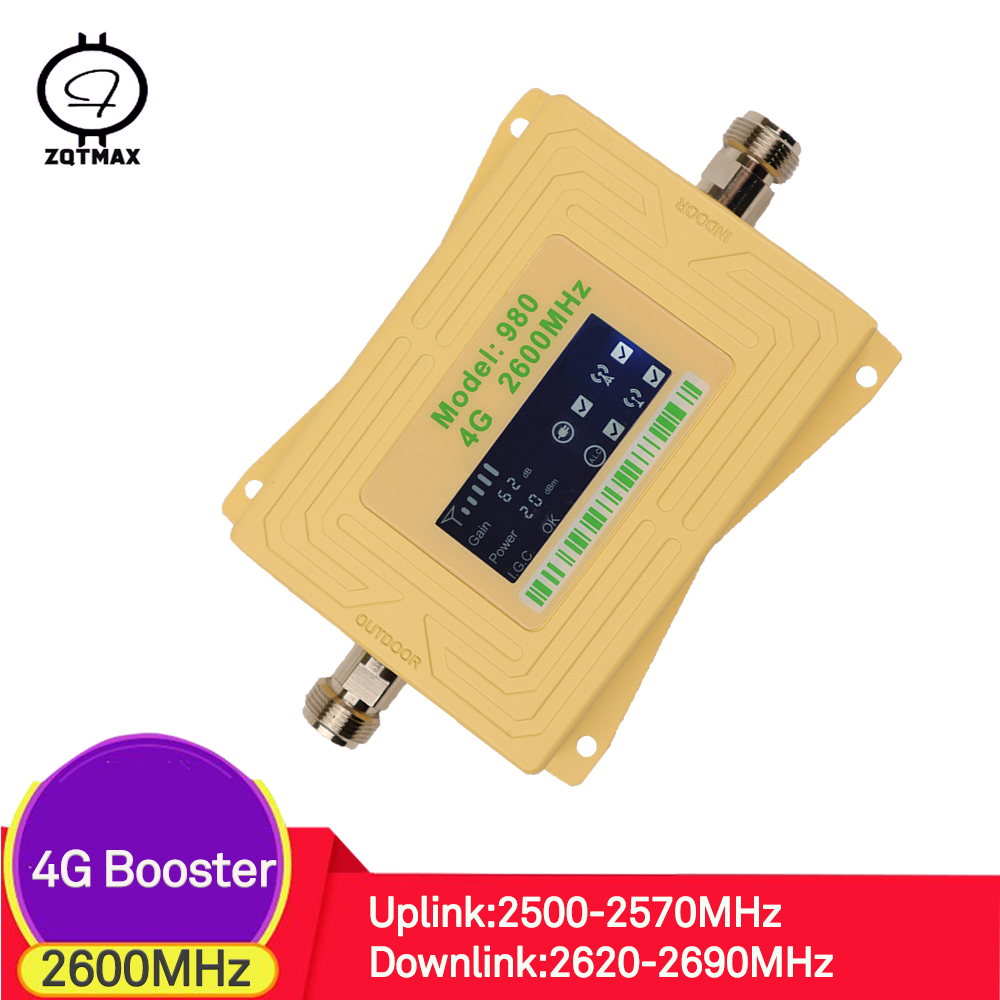 ZQTMAX 4G repeater lte cellular signal booster b7 2600MHz internet signal amplifier 70dB booster New 4g lcd displayZQTMAX 4G repeater lte cellular signal booster b7 2600MHz internet signal amplifier 70dB booster New 4g lcd display