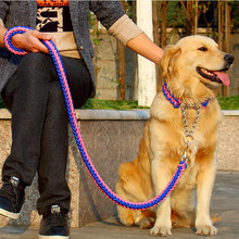 2019 Adjustable Dog Collar Leash Nylon Pet Rope For Medium Dogs Soft Set P Chain Large Training Slip