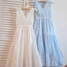 Женское кружевное платье с вышивкой белое длинное до середины