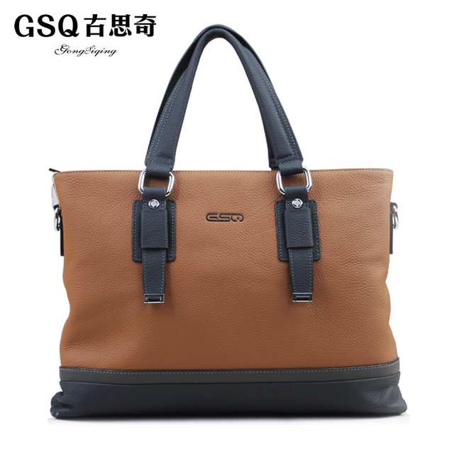 Gsq autumn new arrival fashion business casual man bag cowhide cross-body genuine leather one shoulder handbag