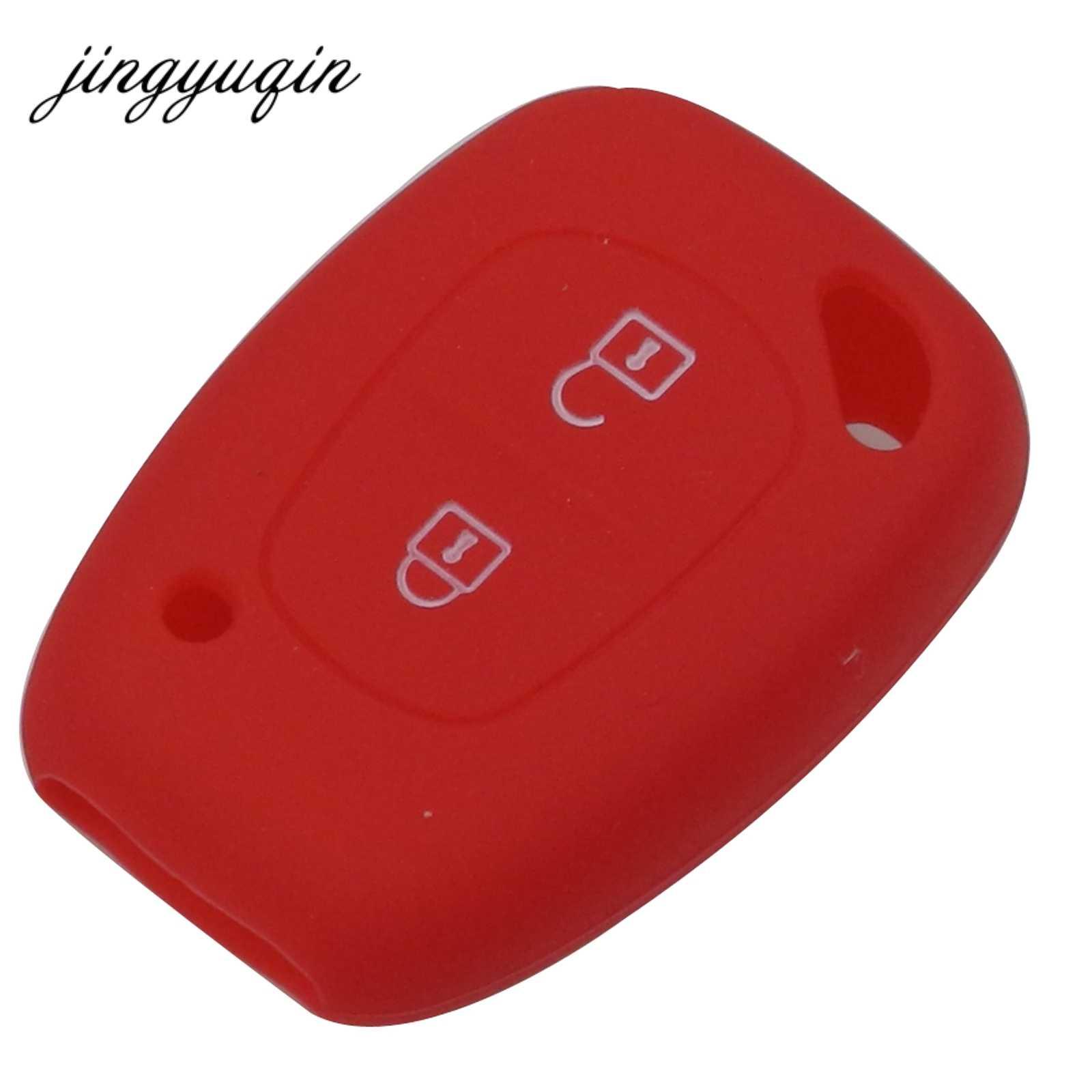 Jingyuqin סיליקון רכב מפתח Fob כיסוי מקרה עבור רנו Vivaro Movano התנועה מאסטר Kangoo עבור ניסן אופל