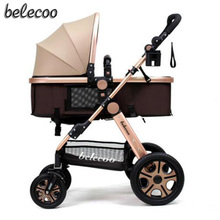 belecoo Baby stroller can sit reclining folding light portable high landscape shock baby trolley