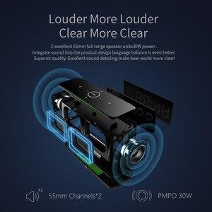 Image 3 - MIFA A30 TWS אלחוטי נייד מתכת מלא מסך תצוגת Bluetooth רמקול 30W כוח OSD מגע בקרת רמקולים עם מעורר שעון
