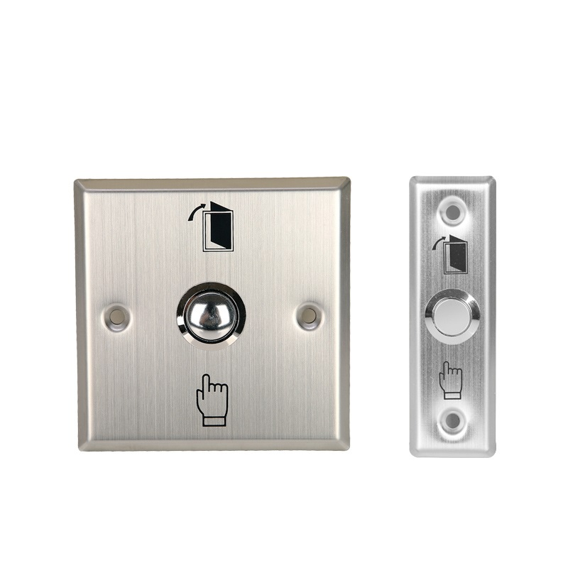 Stainless steel exit button release push button for door access control lpsecurity stainless steel door access control led backlit led illuminated push button door lock release exit button switch