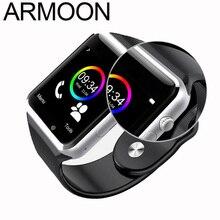 A1 Relógio inteligente Bluetooth relógio de Pulso Com TF Cartão SIM Chamada Câmara de Esporte Pedômetro Smartwatch para Android Telefone pk mi banda 2 3 F1