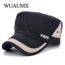 7e1de6a5187 Wuaumx Classic Military Hat Men Women Cotton Army Hat Cadet Patrol Snapback  Flat Cap Adjustable Outdoors