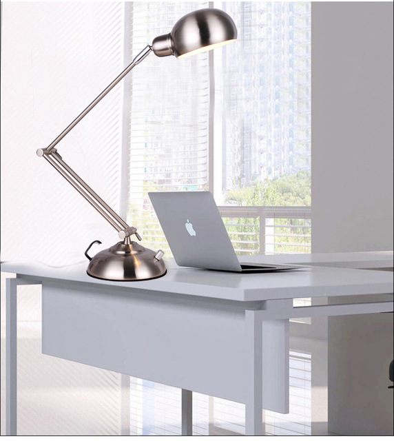 Long Arm Desk Lamps Flexible Led Lamp Table Lighting Foldable Office Lights Loeplamp Met
