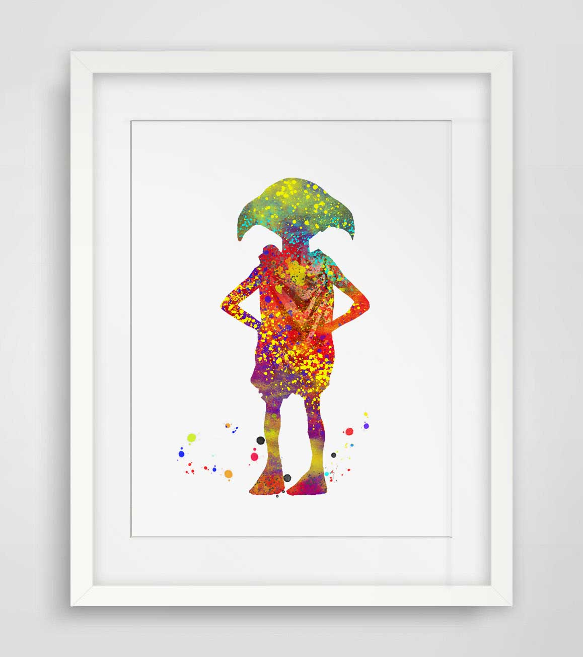 Dobby Watercolor Wall Art Harry Potter Print Elf Nursery Gift Original Baby