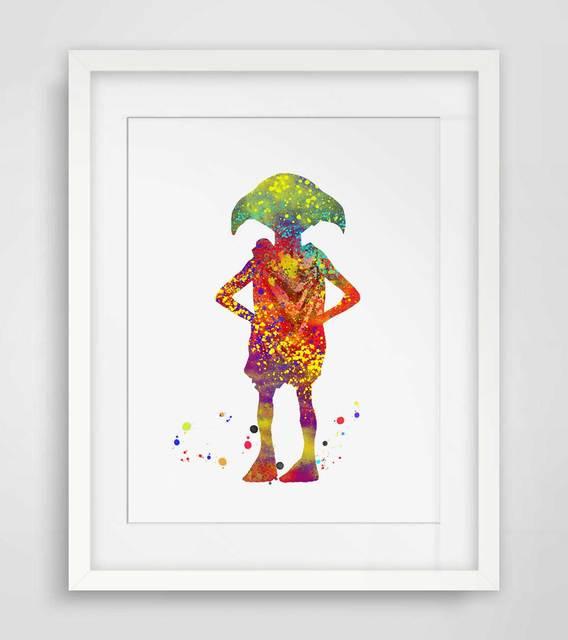 Dobby Watercolor Wall Art Harry Potter Art Print Elf Nursery Gift Original Nursery Wall Art Baby Room Decor  AP055