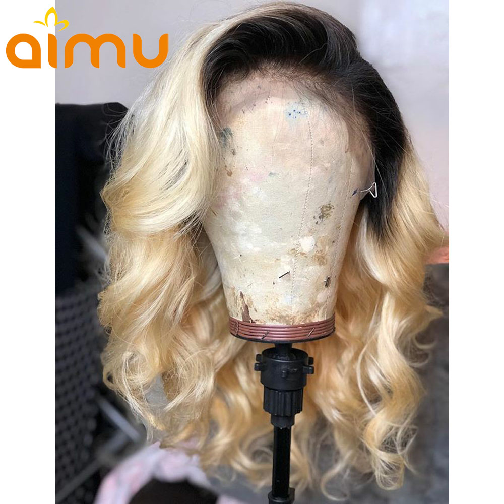 Blonde 1b 613 Lace Front Wig Human Hair 11 11 Baby Loose Wave Wig Transparent Preplucked