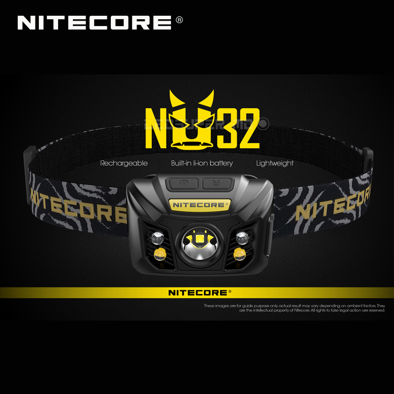 Hot Sale Nitecore NU32 CREE XP G3 S3 LED 550 Lumens High Performance Rechargeable Headlamp Built